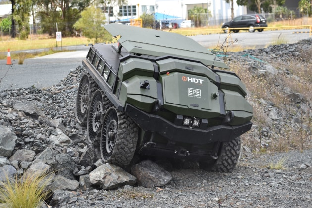 The Muskito technology will be integrated with unmanned ground vehicles. Image: EPEquip and HDT Global.