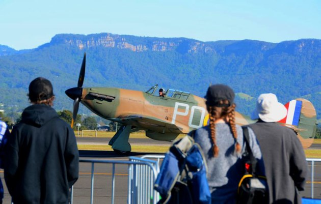 Ross Pay's Hawker Hurricane was the highlight of the show for many warbird enthusiasts. (Steve Hitchen)