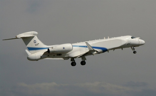 An IAI 'Shavit' aircraft, a Gulfstream G550 modified for electronic missions, in use by Israel's 122 Squadron. @IntelSky