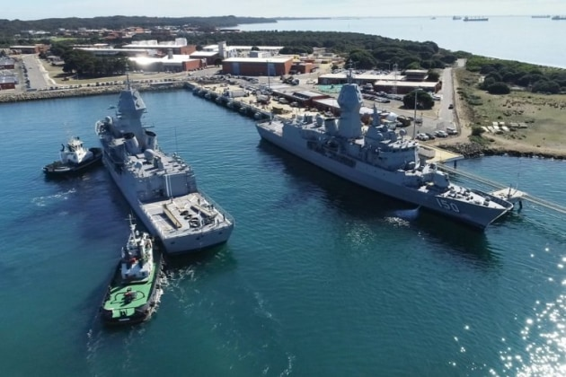 HMA ships Anzac, right, and Arunta have both undergone the Broadband Sonar Advanced Processing System upgrade.