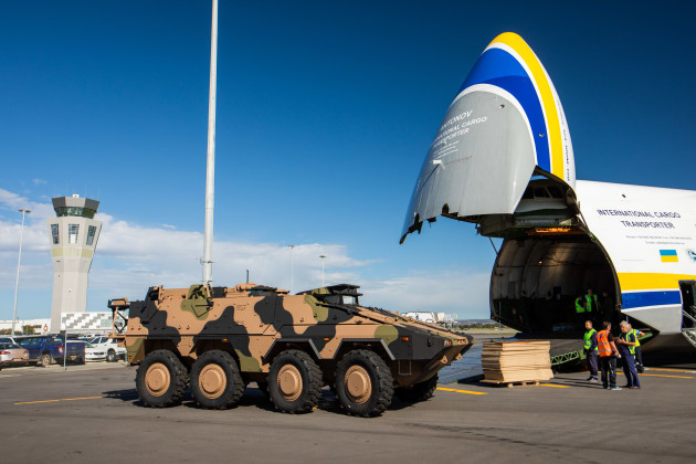 The Boxer at Adelaide Airport. (Rheinmetall)
