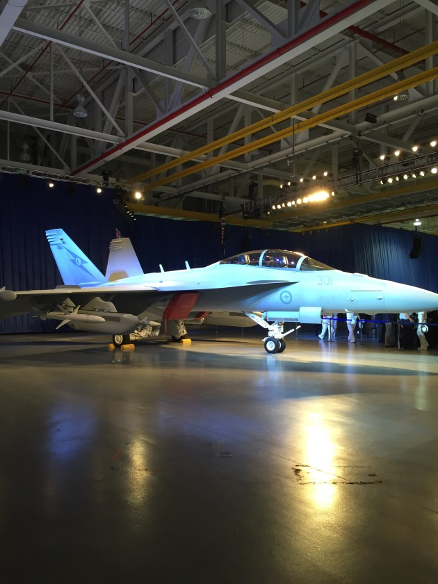 The first Super Hornet roll out in St Louis. (Katherine Ziesing)