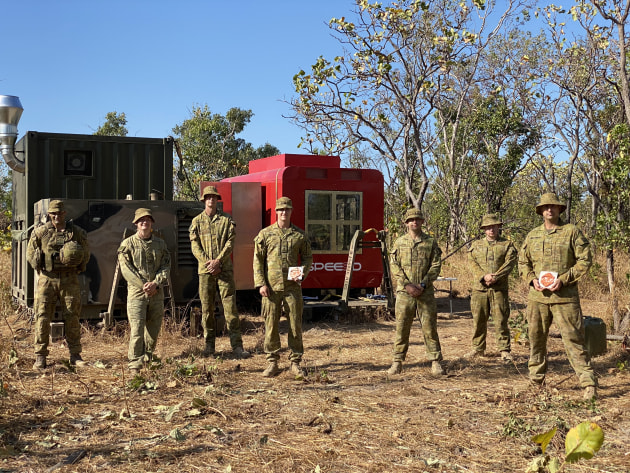 During the three-day trial, the WarpSPEE3D was manoeuvred to various bush locations and unloaded on different terrains. (Supplied)