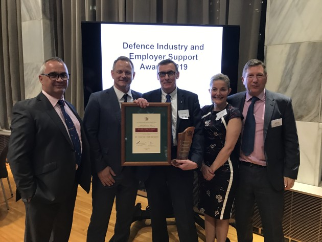 Iain Swan, Andy Cross and Warwick Penrose from EPE with Paula Brasovan, CEH
