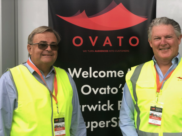Day of triumph: Michael Hannan, chair (left) and Kevin Slaven, CEO Ovato.