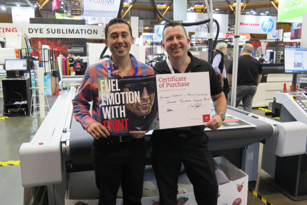 Advancing: James Sultana at Grand Print signs for Arizona and Pro-Cut