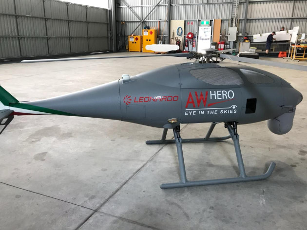 Leonardo's AWHERO UAS on display in Nowra. Credit: Julian Kerr