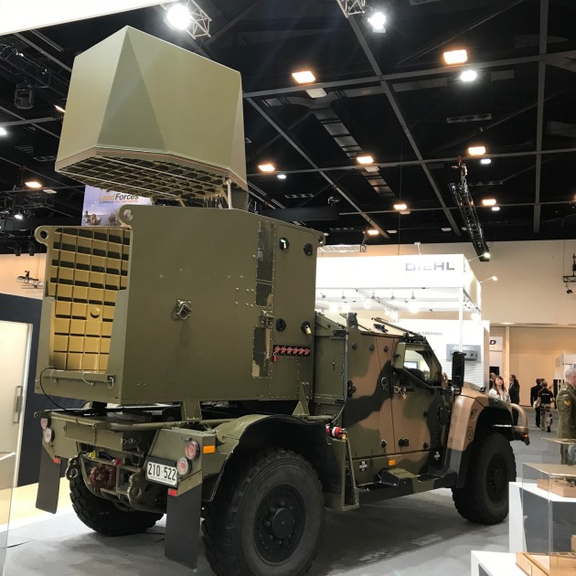 The CEATAC radar on show at Land Forces 2018.