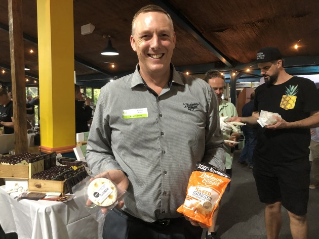 Buderim CEO Andrew Bond exhibiting just some of his ginger wares.