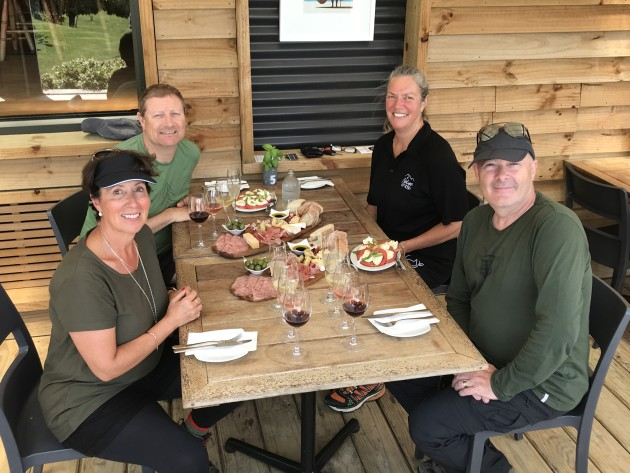 A yummy lunch at Mercury Bay vineyard.