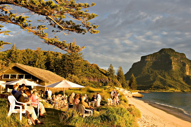 The boatshead at Pinestrees is the place on the island for sundowners!