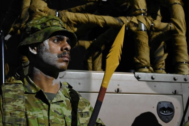 PTE Levi Wauchope of NORFORCE's Darwin squadron supporting COL Papalitsas at the summit.