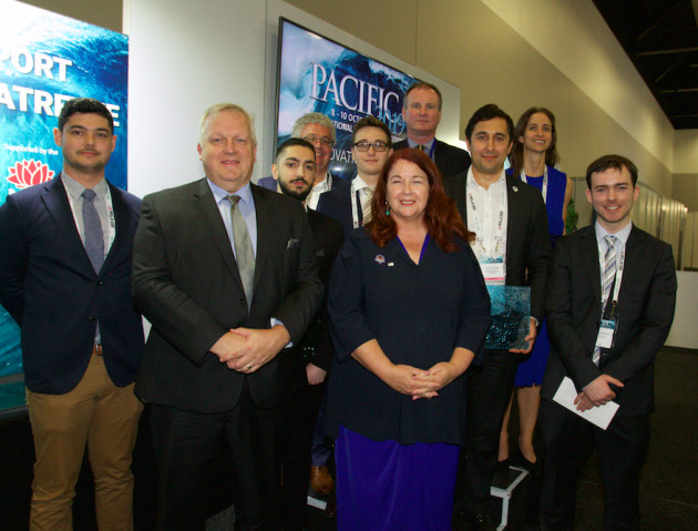 Thomas Churack, Thales Australia; Dr Mark Hodge, DMTC Limited; Jason Sardi, Thales Australia; Gary Shmith, EM Solutions; Lawrence Marychurch, DroneShield Limited; Minister for Defence Industry Melissa Price; Doug Burd, Ultra Electronics Avalon Systems; Oleg Vornik, DroneShield; Grace Hynd, Advanced Navigation; Ryan McGrath, Thales Australia.