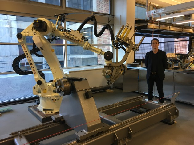 JAR Aerospace CMO Lochie Burke at the UNSW testing facility. 