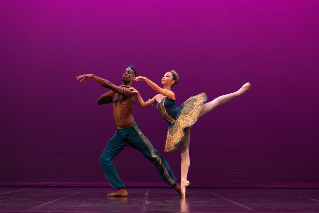 Juan Carlos Osma and Mayume Noguromi in Le Corsaire pas de deux for GALA. Photo by Bradbury Photography