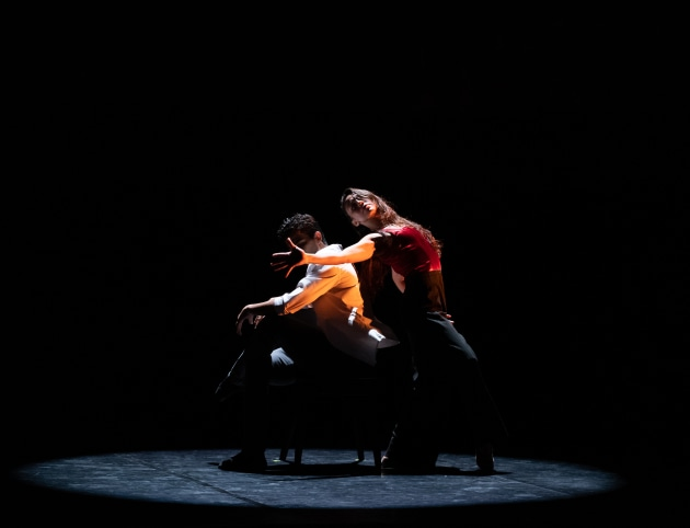 Julio Blanes and Glenda Garcia Gomez in Polly Hilton's 'By the Amber Light'. Photo: Bradbury Photography.