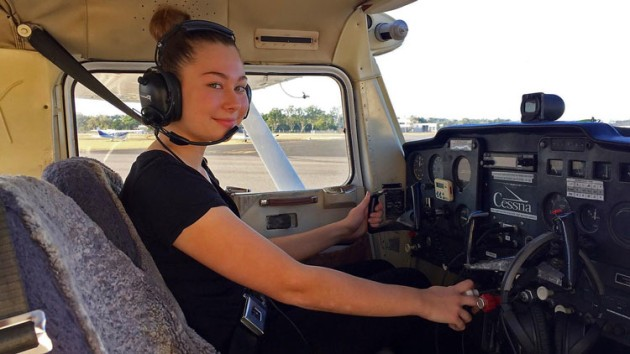 Kate Lovegrove is embarking on an aviation career that she hopes will lead to flying for the RFDS. (supplied)