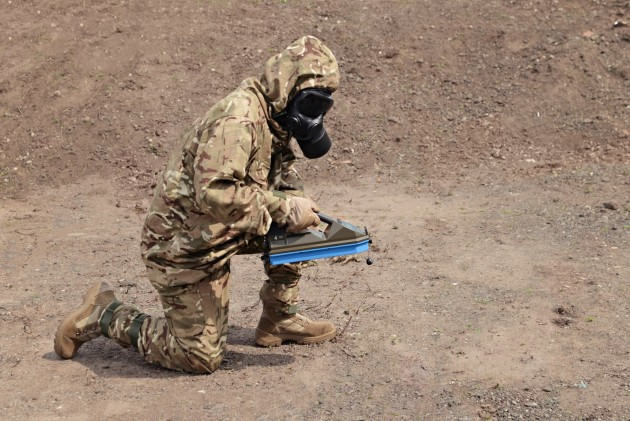 The project involves the provision of 'Kestrel' medium weight protective CBRN ensembles. Credit: OPEC Systems