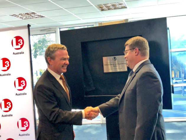 Chris Pyne opening L3's new centre in Victoria. Credit: Chris Pyne via Twitter