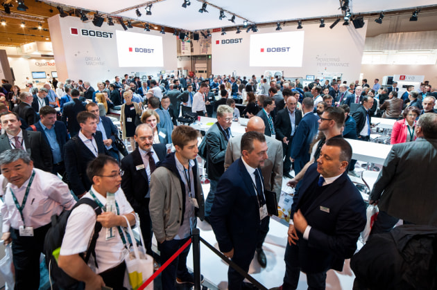 The Bobst exhibit at Labelexpo Europe 2017.