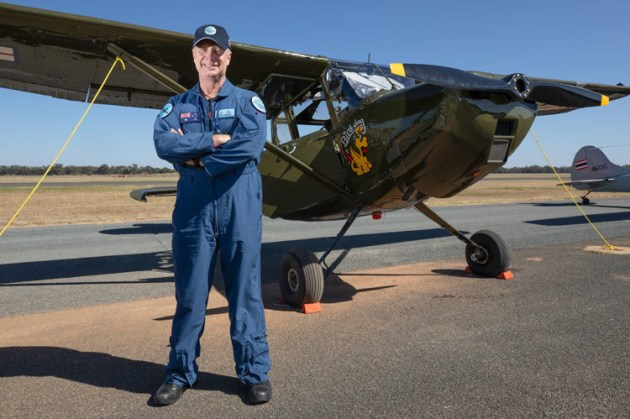 Air Chief Marshal Mark Binskin with his O-1 Birddog at Temora. (Department of Defence / CPL Kylie Gibson)