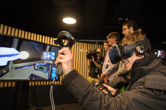 Thanks to Lockheed Martin's work on the Mars mission, students were able to enter a digital immersive version of what a base camp could look like.