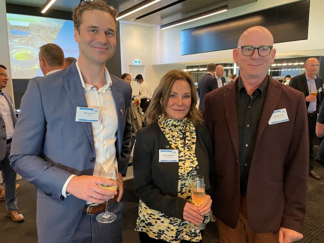 Max Jarmatz, Nord; Elena Berkovich, Inter Spares; and Paul Clements, Filter Specialties