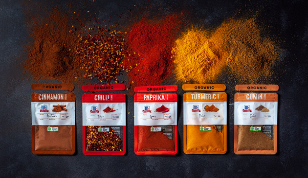 McCormick unveils organic spice pouches - Food & Drink Business