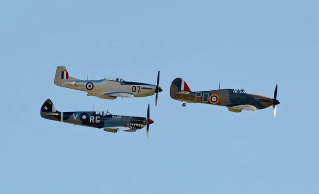 The Mustang, Spitfire and Hurricane were all powered by Rolls Royce Merlin engines. (Steve Hitchen)