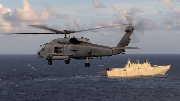 The Australian capability could be integrated with the sensor suites on the MH-60R Seahawk.