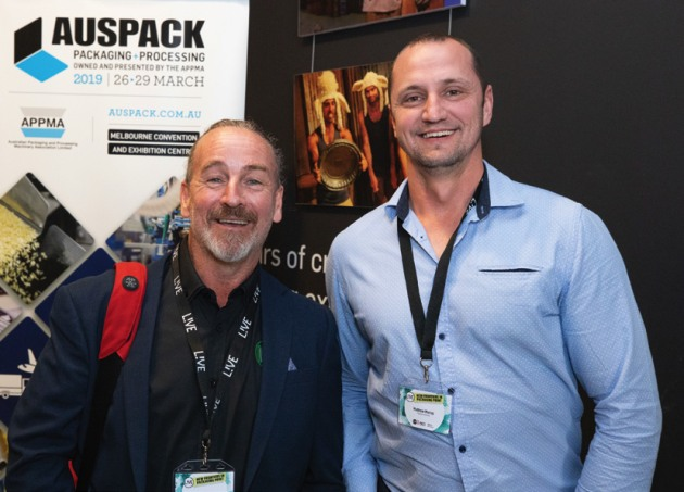 Workflow gurus: Mick Rowan (left), PrintIQ, and Matt Murray, Tharstern Australia.