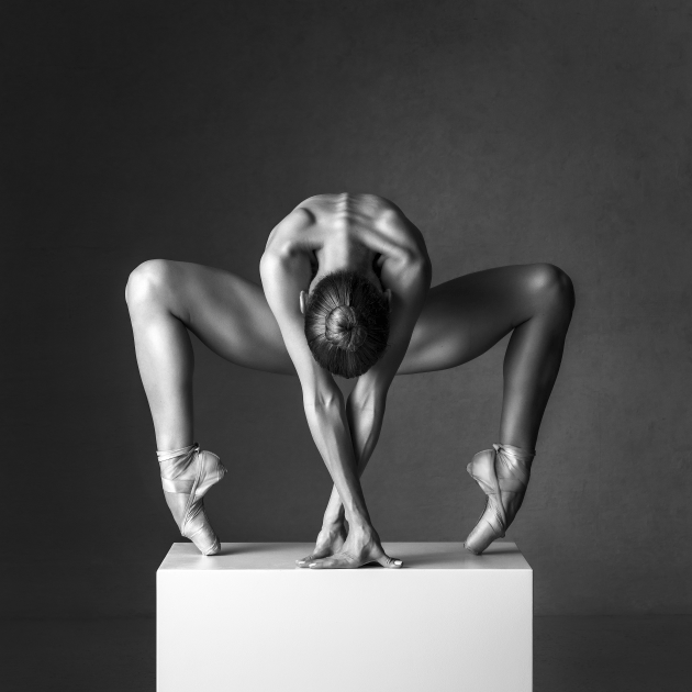 "© Thomas Holm. Spiderina. ""Ballerinas are some of my favourite models. The strength, flexibility, and grace they possess can give an animalistic or even alien appearance, like this image with Miriam Pierzak."""