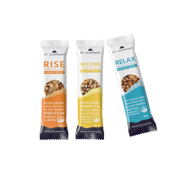 Mt Elephant snack bars show how trends intertwine, promoting plant-based superfoods and nutritional hacking.