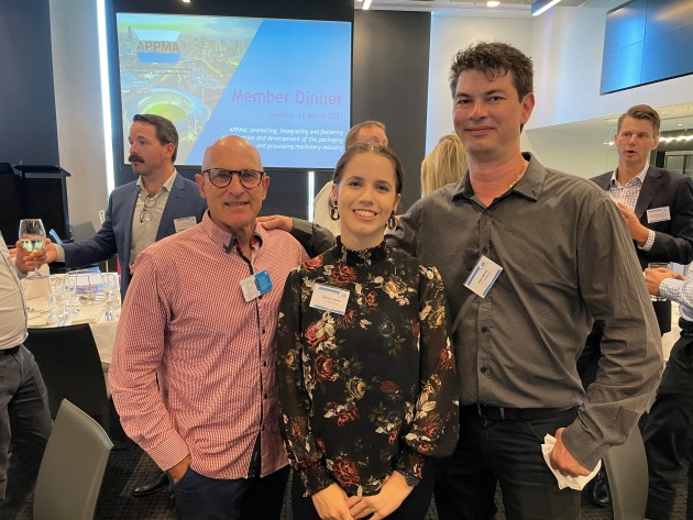 Neil Abrahams, Jessica Ansell and Paul Erlich from OF Packaging