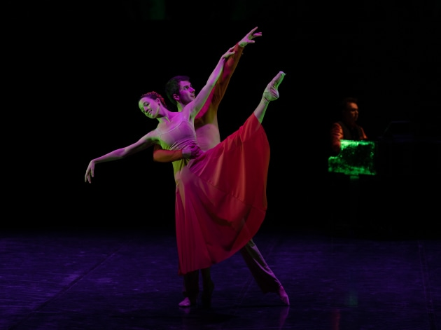 Nikki Blain and Jack Whiter in 'Moment of Joy', co-choreographed by Dayana Hardy Acuna and Juan Carlos Osmas. Photo: Bradbury Photography.