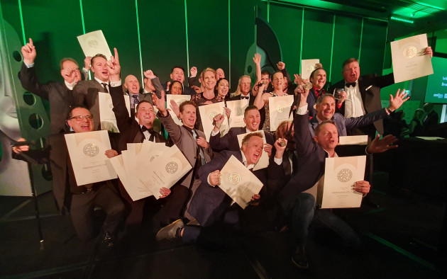 Champions: the gold medal winners at the National Print Awards