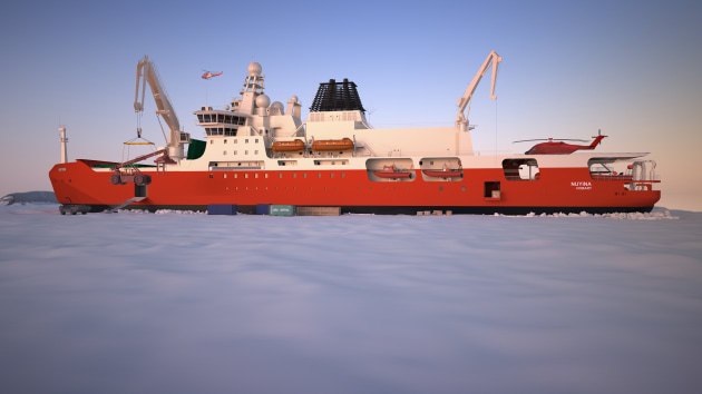 A concept image of the RSV Nuyina on ice.