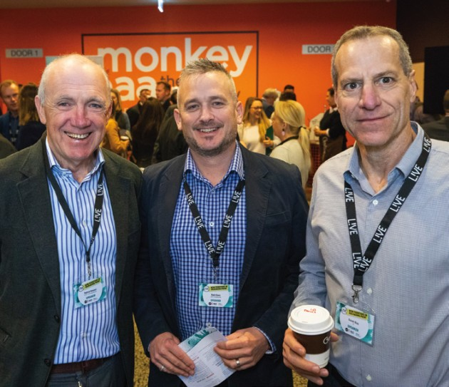Patrick Howard, Print21; Mark Daws, Currie Group; Daniel Blau, HP. Mark Dingley,