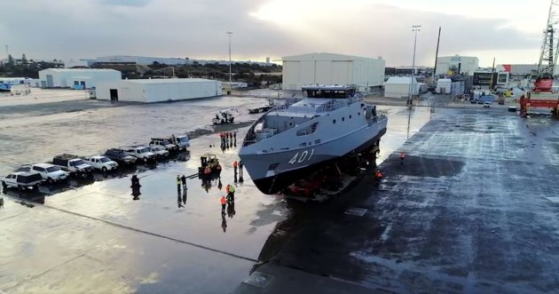 The launch of the PPB in WA. Credit: Austal