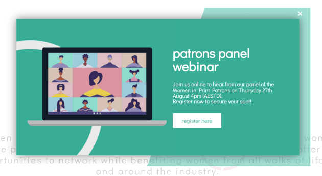 Patrons Panel webinar on Thursday: Women in Print