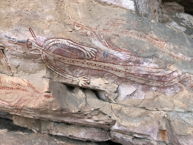 Ubirr rock art.