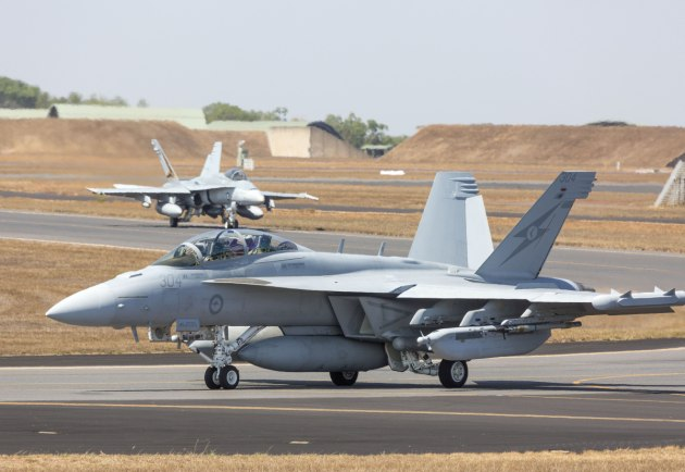 An EA-18G Growler from No. 6 Squadron. Defence