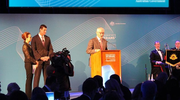 Malcolm Turnbull speaking at the awards. Credit: Australian Government via Contact