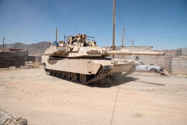 Rafael Trophy system on US Army Abrams tank.