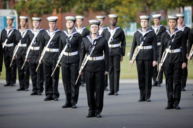 Members of General Entry 382 Emms Division during their Graduation Parade held at Navy Recruit School.