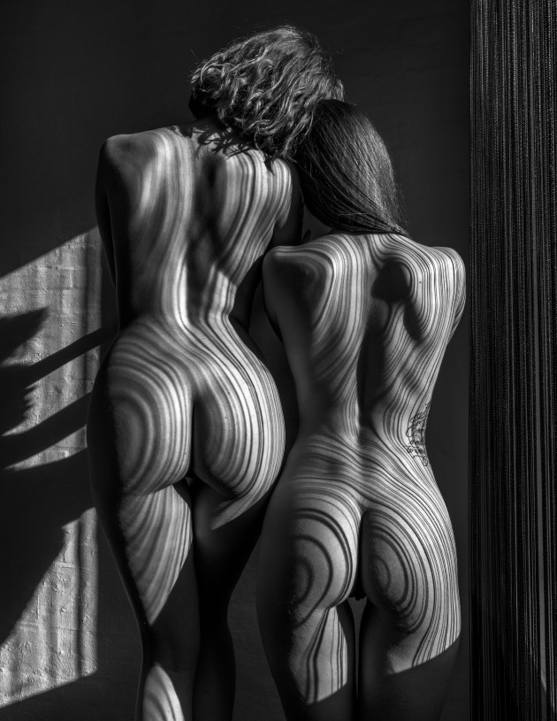 "© Thomas Holm. Double Pinstripe. ""Working with sunlight and shadows is one of my favourite studio disciplines. Deep shadows enhance interest and depth perception and gives images a more three-dimensional character."""