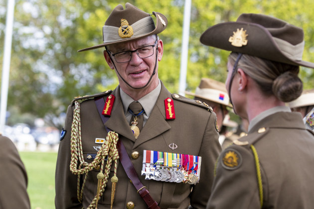 Chief of Army Lieutenant General Rick Burr.