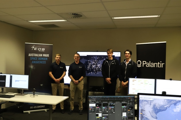 EOS Space Systems and Palantir Australia partnered on the US Sprint Advanced Concept Training in early April. (Credit: EOS Space Systems)