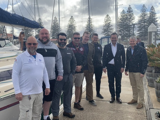 SA's ex-service organisation The Road Home has partnered with the Cruising Yacht Club of SA to deliver this program pilot. Credit: Steven Marshall via Twitter