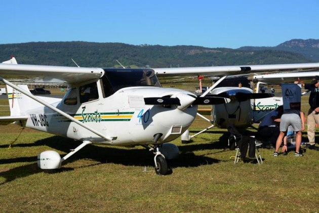 NSW Scouts two C172s on display. (Steve Hitchen)